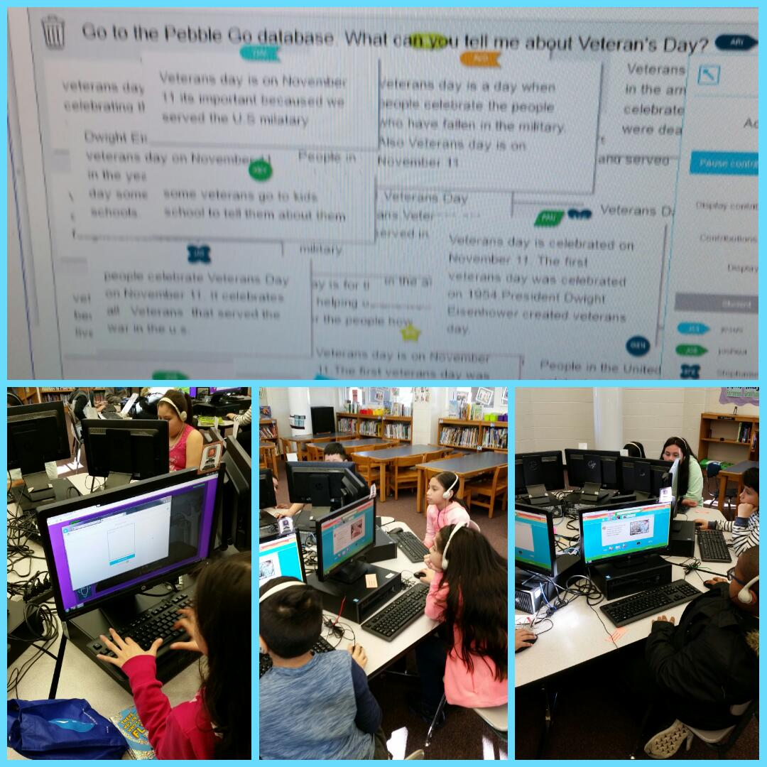 MLK Scholars use the Database PebbleGo to do research.