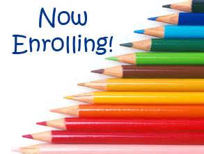 Now enrolling - decorative clipart